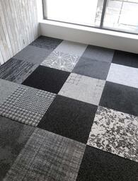 Looking for Interface carpet tiles? AAA Heuga Shuffle It in the color Shades of grey is an excellent choice. View this and other carpet tiles in our webshop.