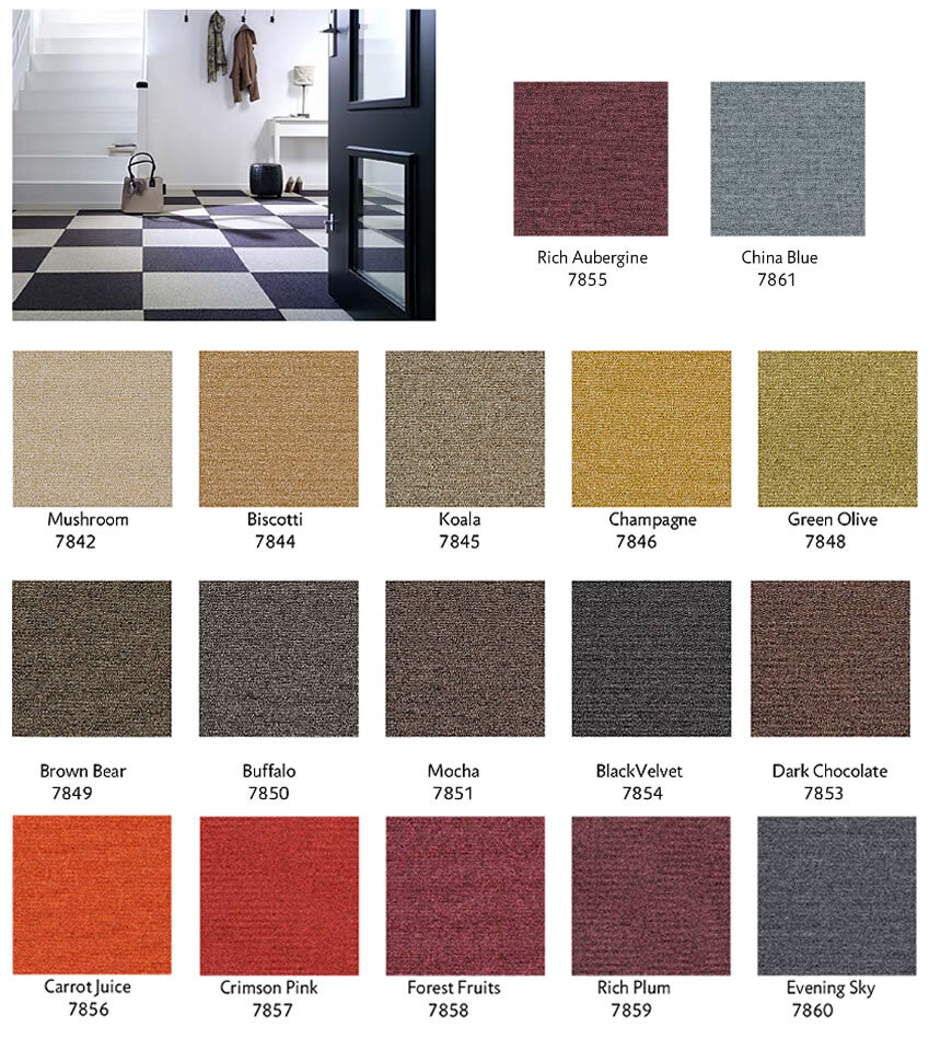 Looking for Heuga carpet tiles? Puzzle Pieces in the color Buffalo is an excellent choice. View this and other carpet tiles in our webshop.