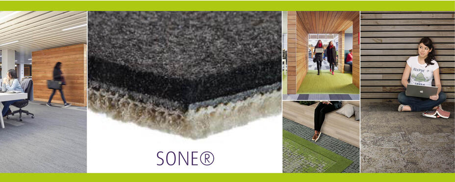 Better acoustics and comfort, choose a SONE® Backing